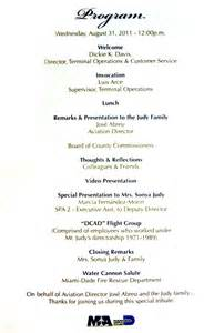program for the richard h quot quot judy celebration of life