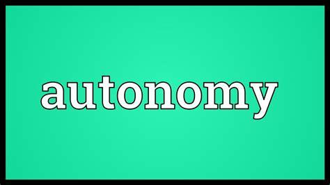autonomy meaning