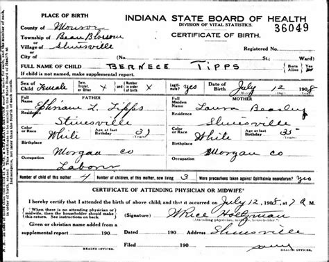 Births Records Finding Indiana Birth Marriage And Records Indiana State Library