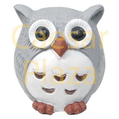 solar outdoor owl light garden decoration led post cap