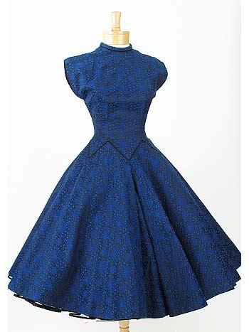 brocade   tea length dress  vintage party