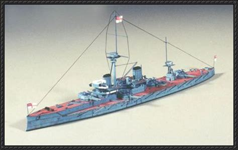 Battleship Papercraft - hms dreadnought 1906 battleship free paper model