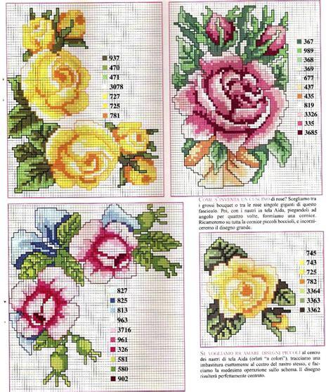 fiori a punto croce delicate a punto croce punti e spunti