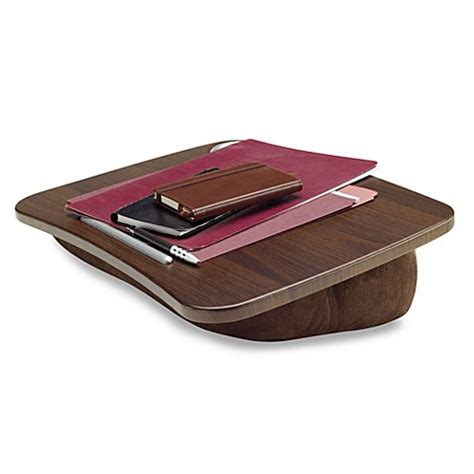 portable desk bed bath and beyond brookstone 174 e pad 174 portable laptop desk in chocolate bed