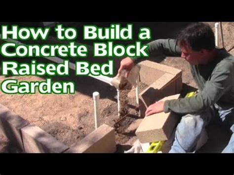 build  concrete block raised bed garden