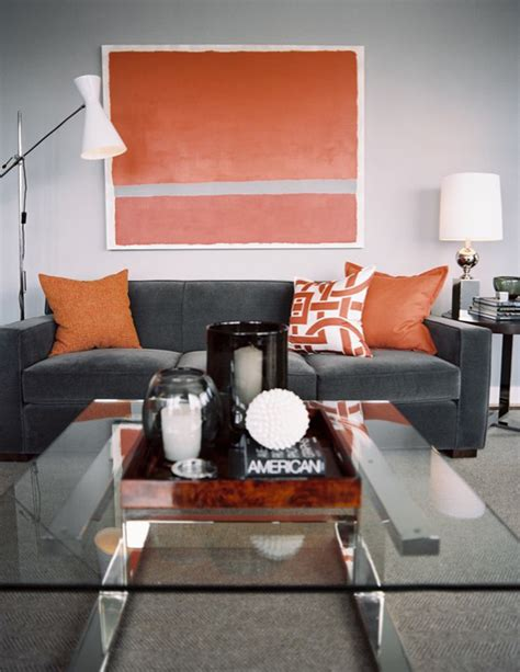 Orange And Grey Room Decor mcallister creative styling gray and orange