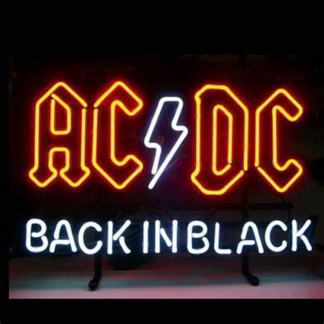 Lu Hannochs Ac Dc ac dc back in black enseigne n 233 on enseignes lumineuse
