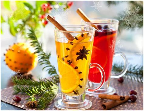 21 Holiday Party Drinks, Non Alcoholic and With Alcohol