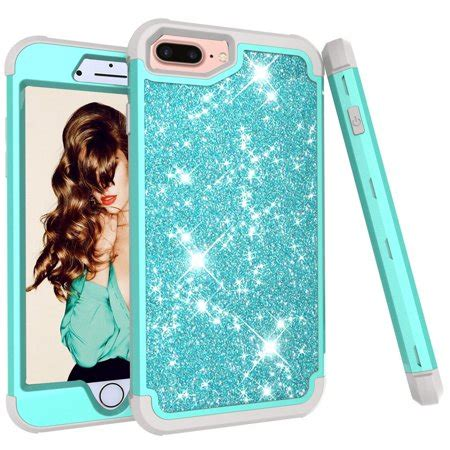 iphone 7 plus 8 plus iphone 6s 6 allytech glitter sparkle bling three layer heavy
