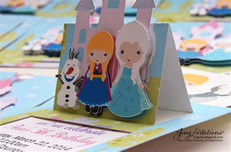 Frozen Handmade Invitations - birthday and baby shower invitations handmade frozen snow