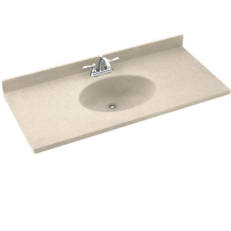 Solid Surface Vanity Tops Swan Contour 43 In Solid Surface Vanity Top In White With