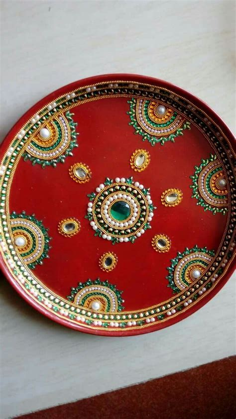 Thali decoration   Art ideas   Thali decoration ideas