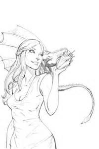 Coloriage  Daenerys Targaryen De Game Of Thrones Coloriages &224 sketch template