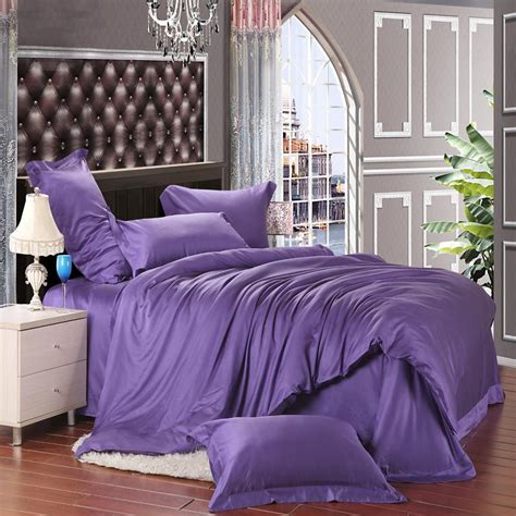 dark purple comforter solid dark purple pure color simply shabby chic 100 soft