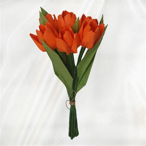 Origami Tulip Flower - buy 6 origami tulips bouquet origami flower bouquet
