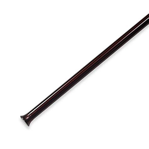 drapery tension rod umbra 174 chroma drapery tension rod in bronze www