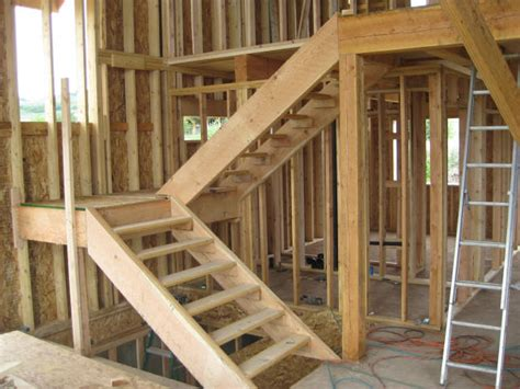 building stairs to basement framing interior walls