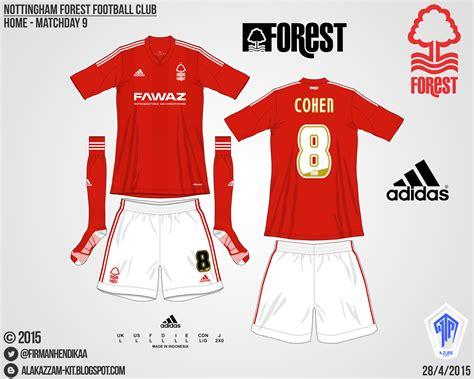 Celana Merah Vt nottingham forest football club home kit adidas alakazzam kit design