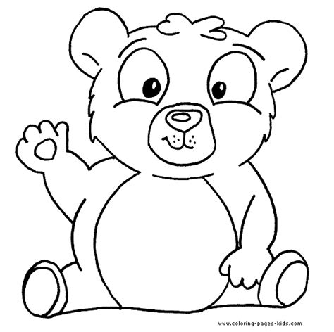 bear coloring page for toddlers waving bear color page free printable coloring sheets for