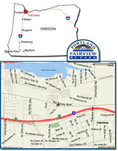 map of fairview oregon portland fairview rv park in fairview oregon easy to