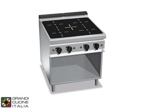 cucina elettrica a induzione cucina elettrica ad induzione 4 zone su vano aperto
