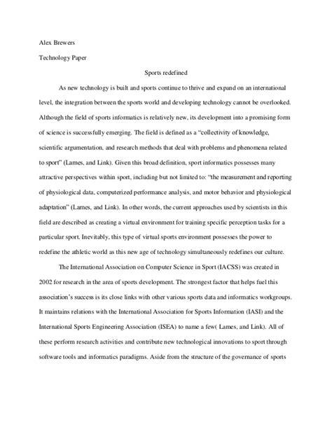 Sport And Sportsmanship Essay by Sports Informatics Essay