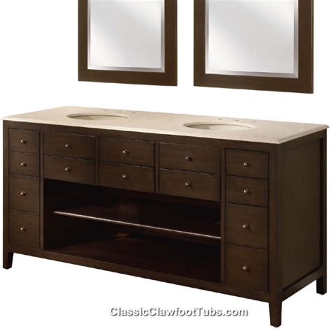 68 quot double bathroom vanity classic clawfoot tub