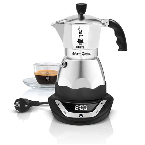 Bialetti Easy Timer Moka Coffee Maker 3 Cups Electric
