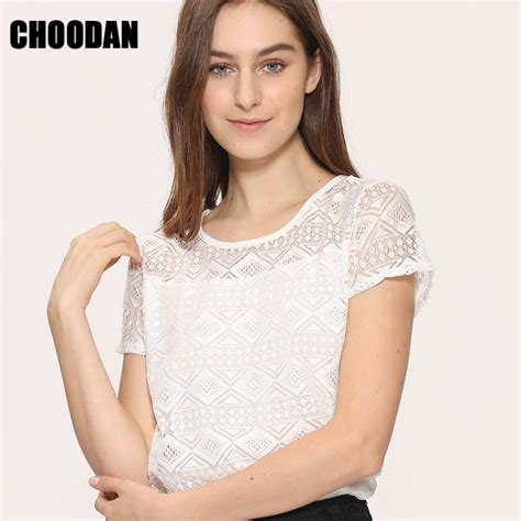 white blouse lace chiffon sleeve summer tops