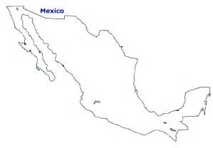 outline map of mexico and the us map of mexico terrain area and outline maps of mexico