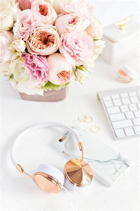 blush pink desk l blush pink styled stock photography desk collection 2 sc