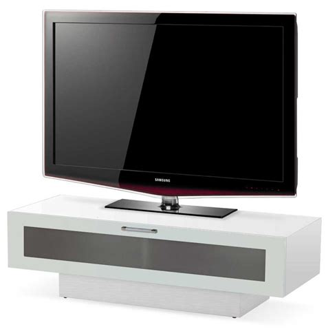 White Gloss Tv Stand Cabinet by Stil Stand High Gloss White Tv Cabinet 1 Tier