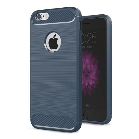 Cover Iphone 6 6s Carbon Fiber Silicone Tpu Back Soft apple iphone 6 6s tpu carbon fiber optik real