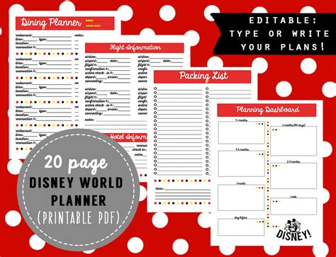 disney itinerary template disney itinerary planner template best free home