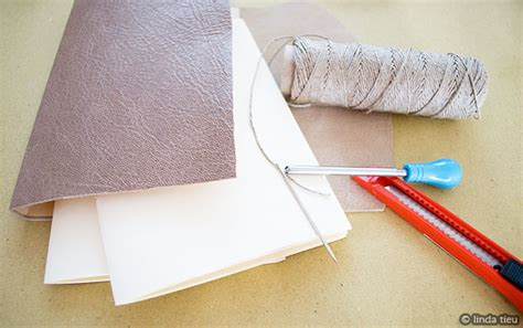 Handmade Leather Journal Tutorial - longstitch bookbinding tutorial for a leather journal