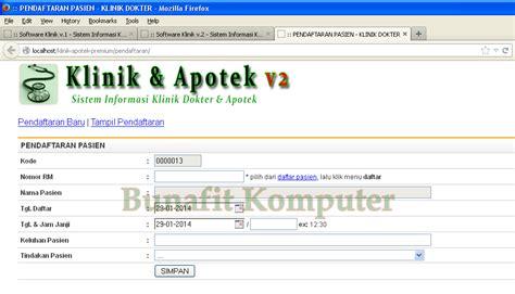 Software Klinik Dan Apotek Apotik program klinik dokter dan apotek bunafit komputer