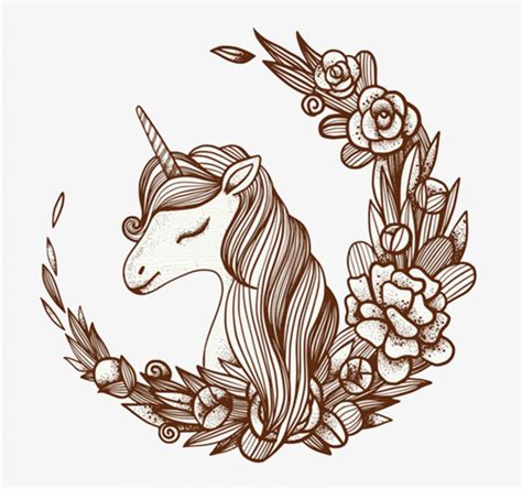 imagenes de unicornios animados para dibujar 卡通独角兽素材图片免费下载 高清png 千库网 图片编号8599675