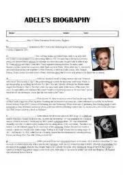 adele the biography pdf english worksheets adele 180 s biography