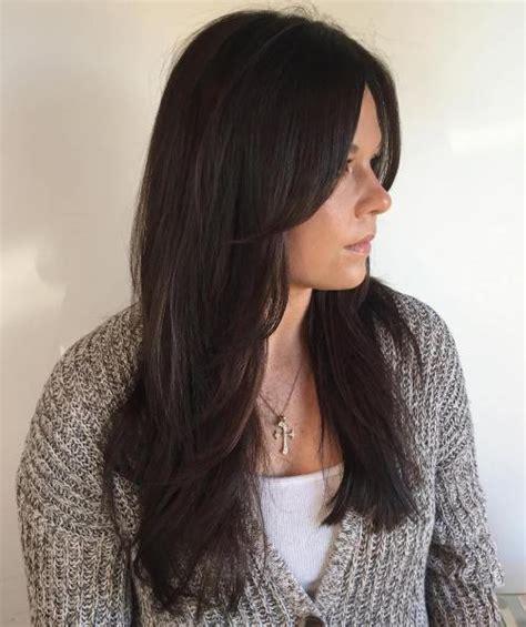 wavy thining hair haircuts with face frame 50 cute long layered haircuts with bangs 2018