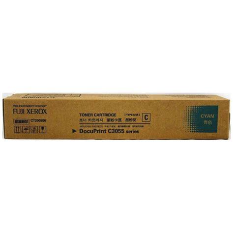 Toner Fuji Xerox Docuprint C3055 Cyan Ct200806 fuji xerox ct200806 cyan toner cartridge genuine inkdepot