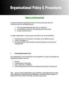company policies and procedures template free policy and procedure templates word pdf