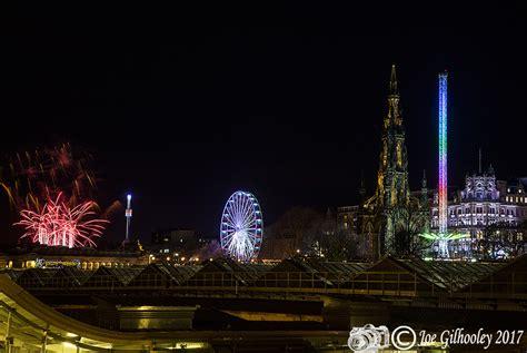 edinburgh christmas lights 2017 switch on the fireworks