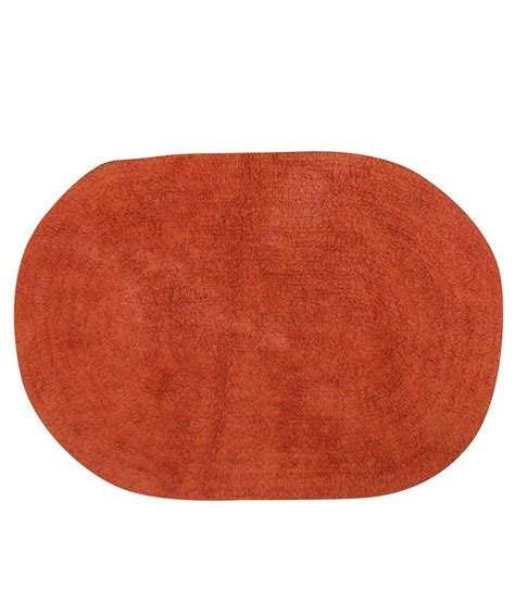 Oval Bath Rugs House This Solid Oval Orange Bath Rug Medium Buy House This Solid Oval Orange Bath Rug