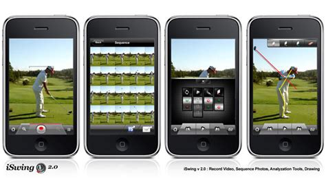 golf swing analyzer app iswingapp hits 1 spot for all sports iphone apps