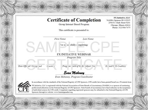 Cpe Certificate Template by Free Continuing Education Certificate Templates Gallery