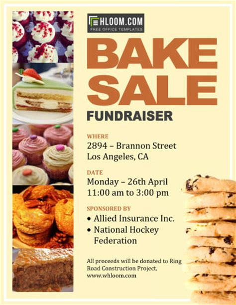 bake sale flyer template free 12 bake sale flyer templates