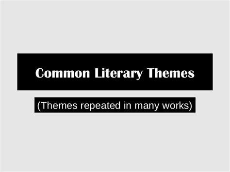quest themes in literature common themes