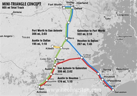 texas central railway map high speed rail projects in texas nextbigfuture