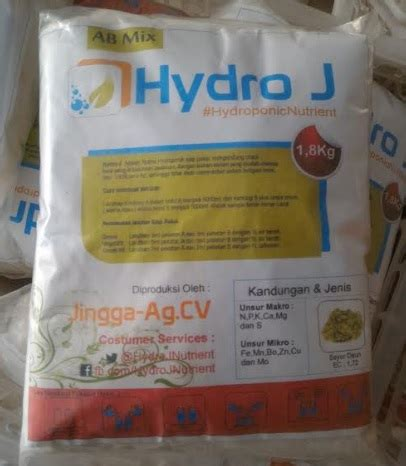 Nutrisi Hydroponik Ab Mix Hydro J Cabe jual nutrisi hidroponik ab mix sayuran daun hydro j 5l pekatan 1 8kg