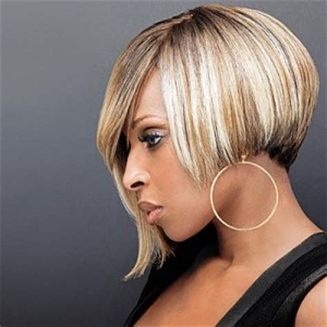 asymetricaial haircut for afician americans mary j blige blonde asymmetric bob hairstyle